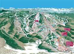 Steamboat Ski Area Trail Map